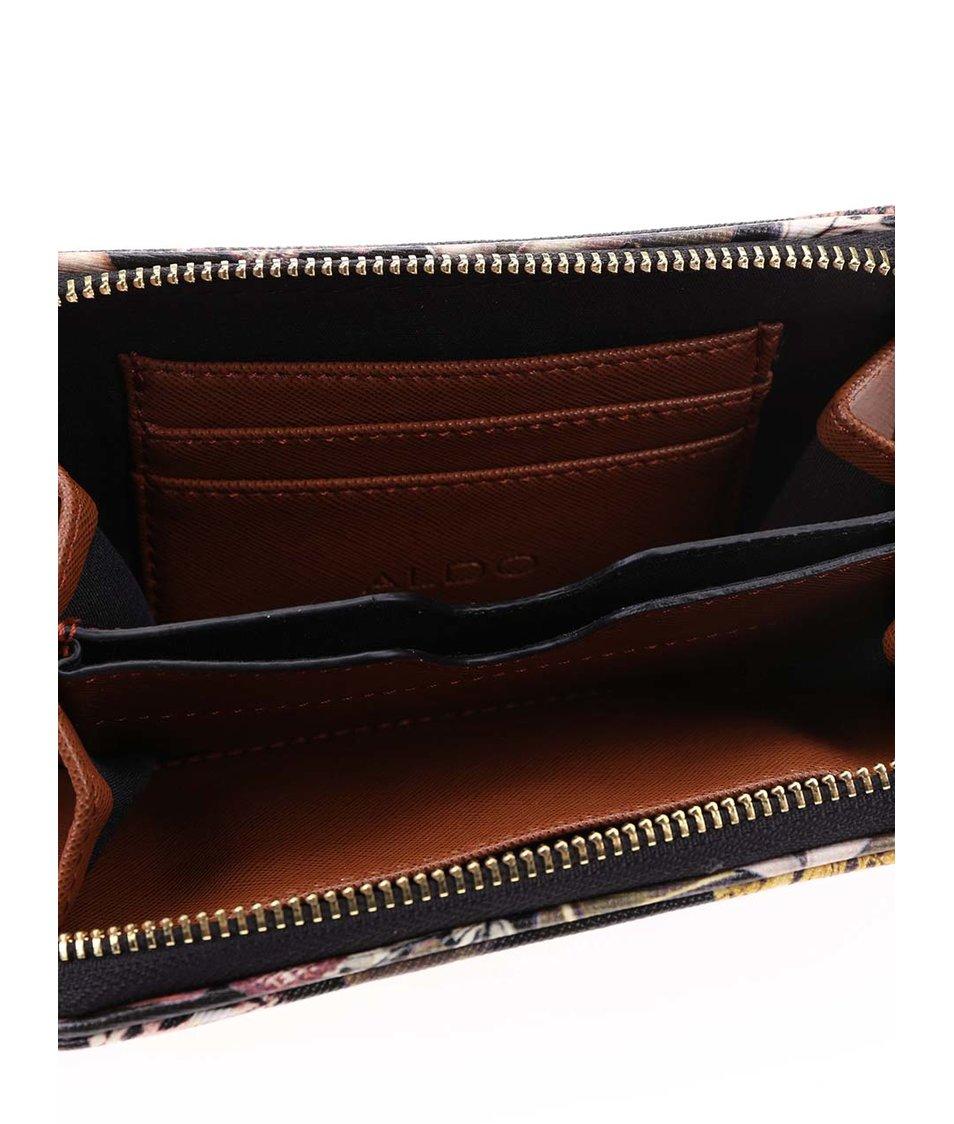 Černá peněženka s barevným potiskem ALDO Lambright