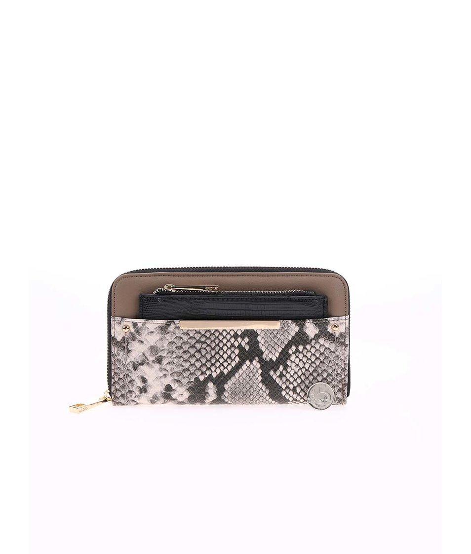 Černo-béžová peněženka s hadím vzorem ALDO Nyssa