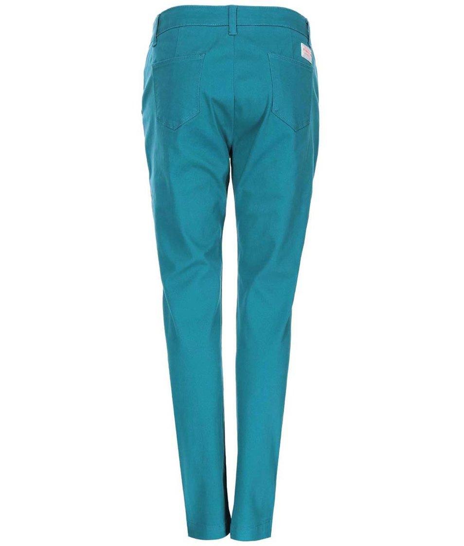 Zelenomodré dámské kalhoty Brakeburn Chino