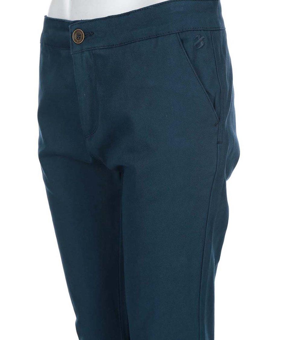 Tmavě modré dámské chino kalhoty Brakeburn Zip Hem