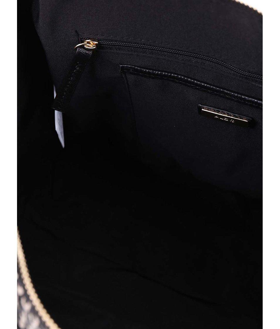 Béžovo-černá vzorovaná kabelka ALDO Halifax