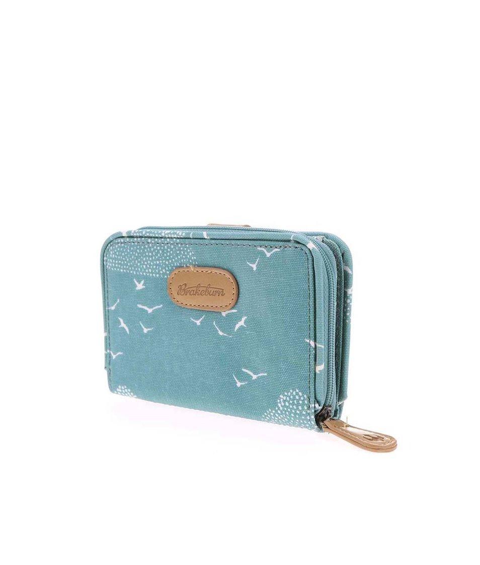 Modrá peněženka s ptáčky Brakeburn Birds And Clouds