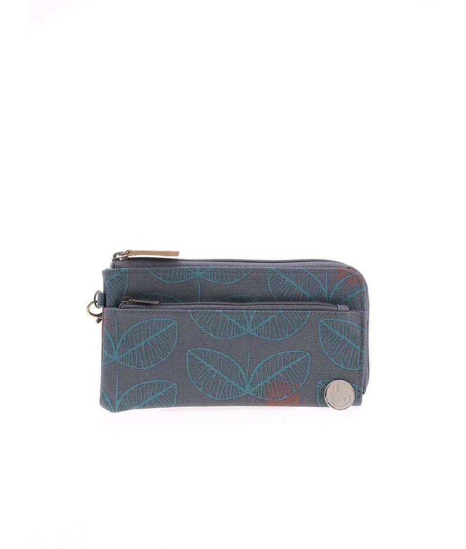 Šedá peněženka s potiskem lístků Brakeburn Leaf Clutch