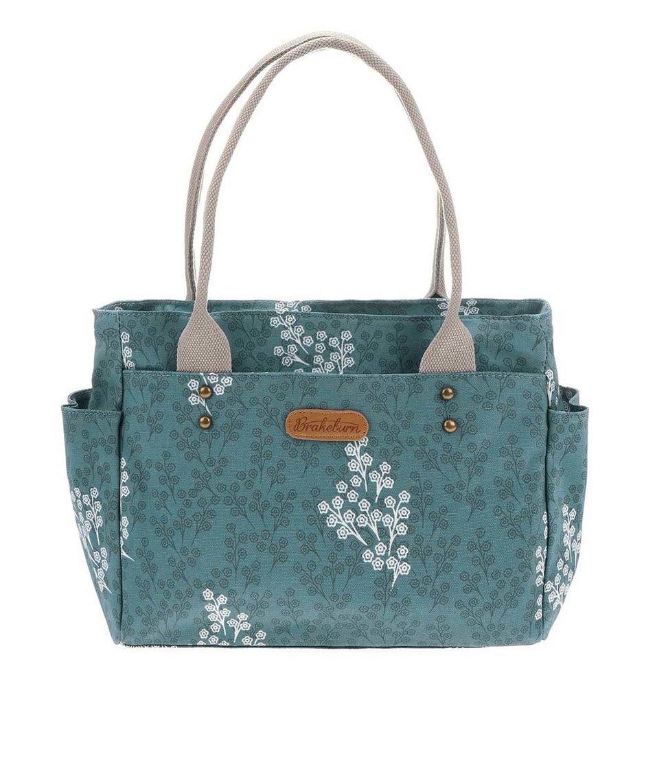 Modrá kabelka s potiskem Brakeburn Delicate Flower