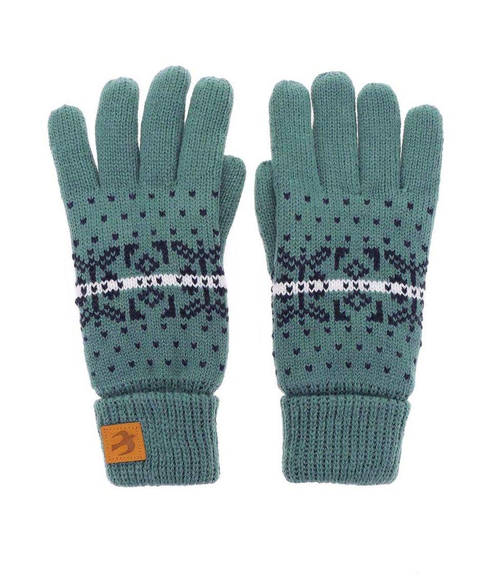 Modré pletené rukavice Brakeburn
