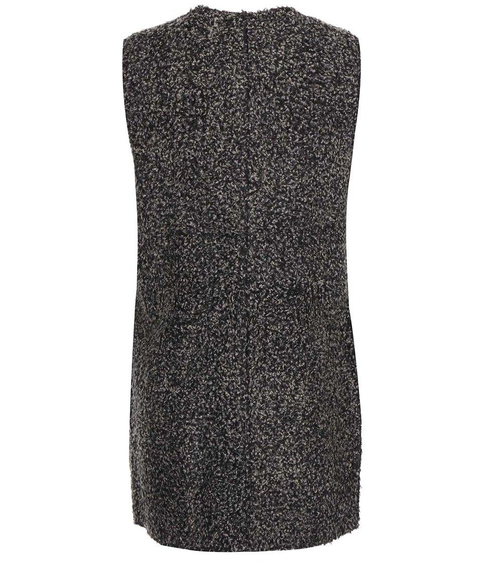 Černo-šedá oboustranná delší vesta ONLY Carolyn