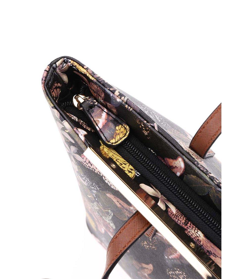 Černá kabelka s barevným vzorem a kovovým detailem ALDO Vanwert