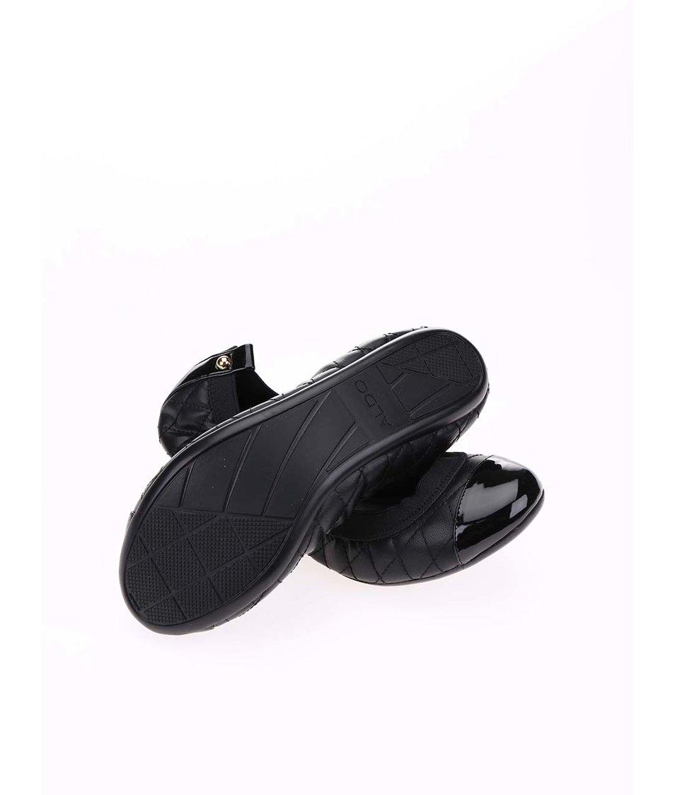 Černé prošívané balerínky ALDO Eleallan