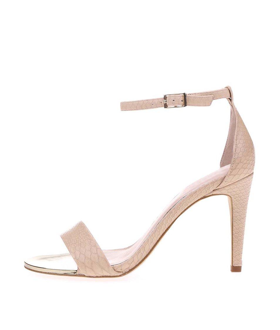 Krémové páskové sandálky s kovovým detailem ALDO Ridia