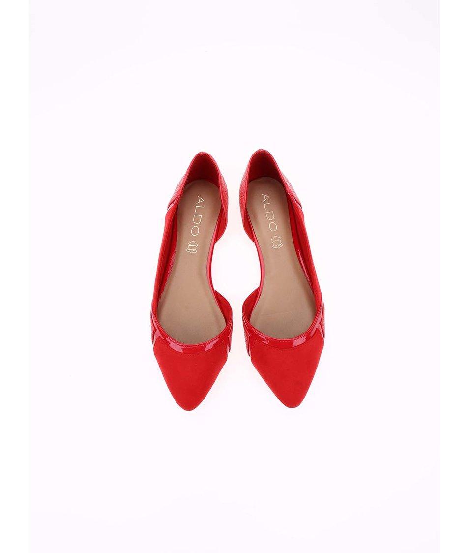 Červené balerínky s hadím vzoremALDO Roselie