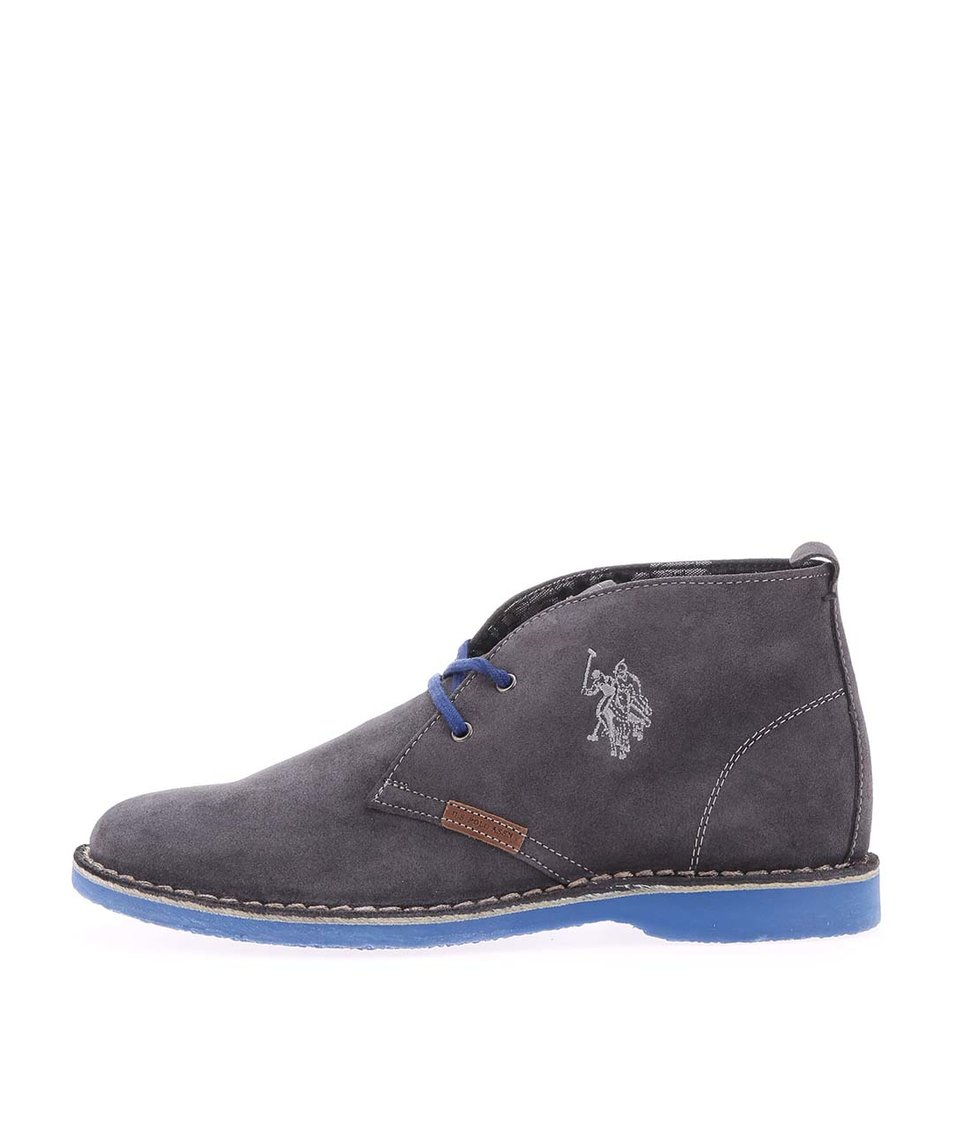 Šedé dámské kožené boty U.S. Polo Assn. Glenda4