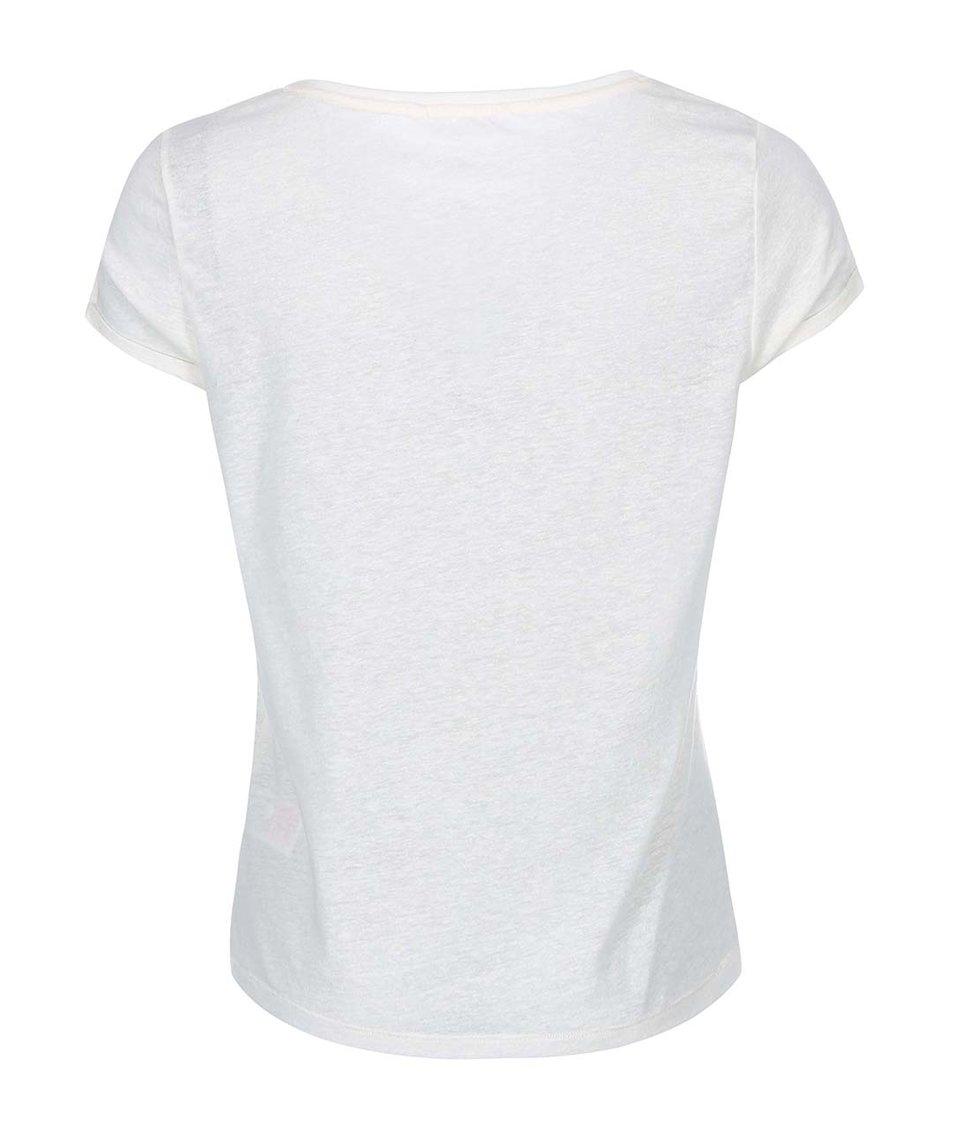 Krémové tričko s potiskem ONLY Milla Perfect