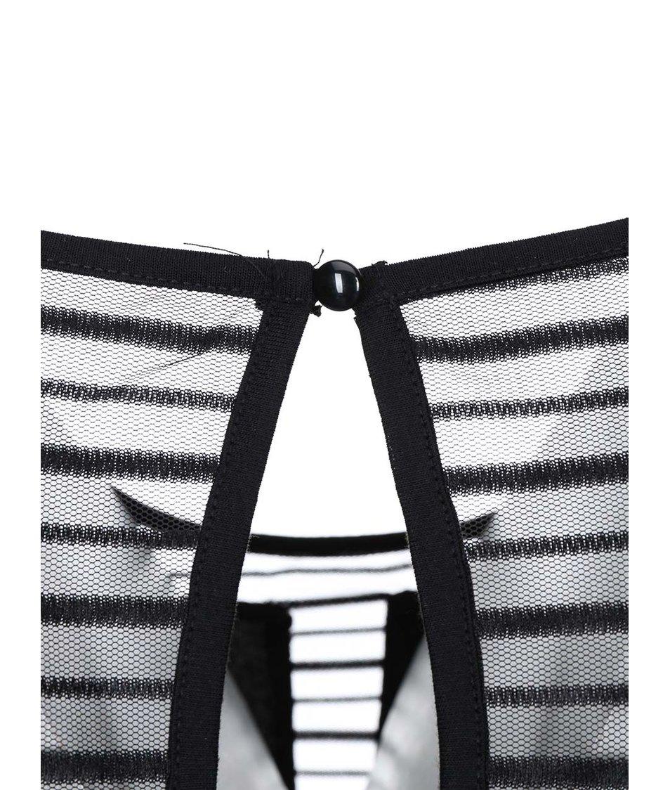 Černé šaty s transparentním výstřihem ONLY Zoom