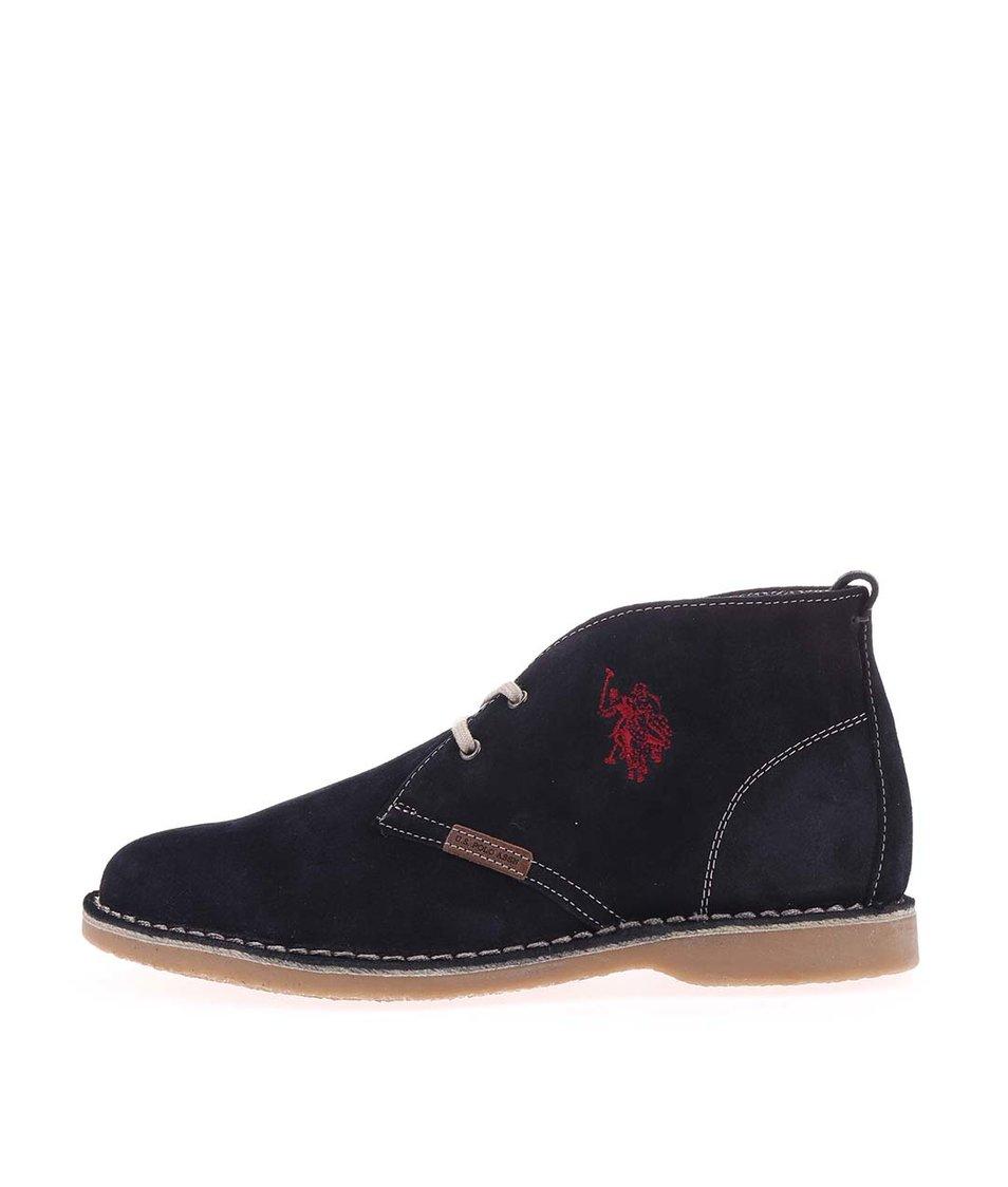 Tmavě modré dámské kožené boty U.S. Polo Assn. Glenda3