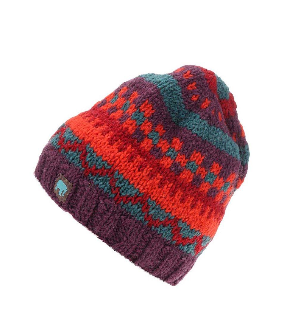 Fialovo-červená pletená čepice Tranquillo Chepre