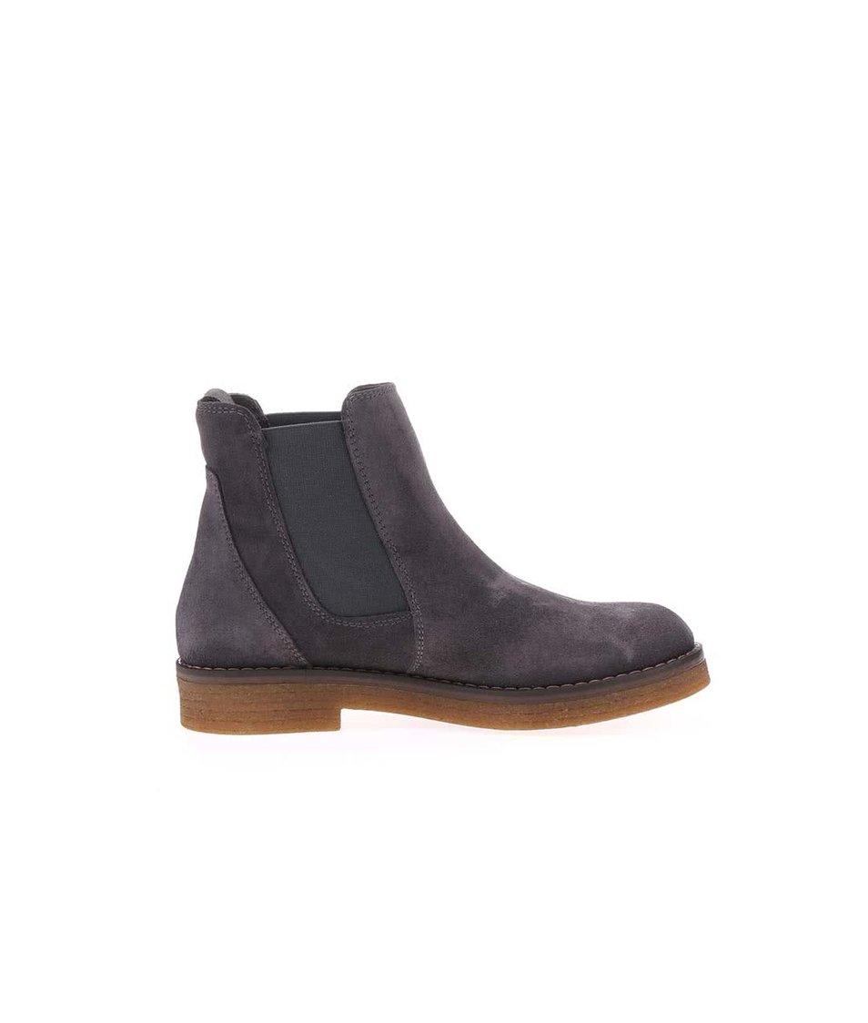 Šedé dámské kožené boty U.S. Polo Assn. Margot - Vánoční HIT ... 9b890817d0