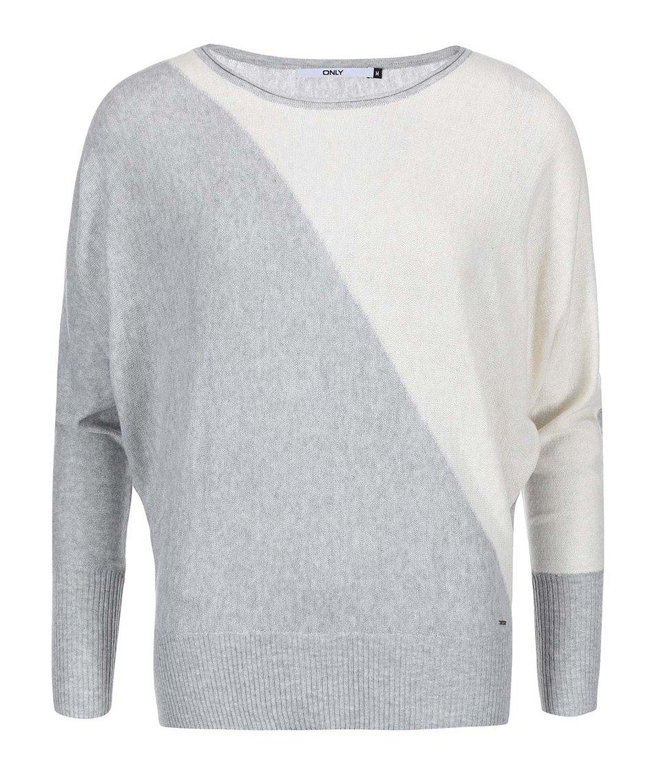 Krémovo-šedý lehký svetr ONLY Scarlett