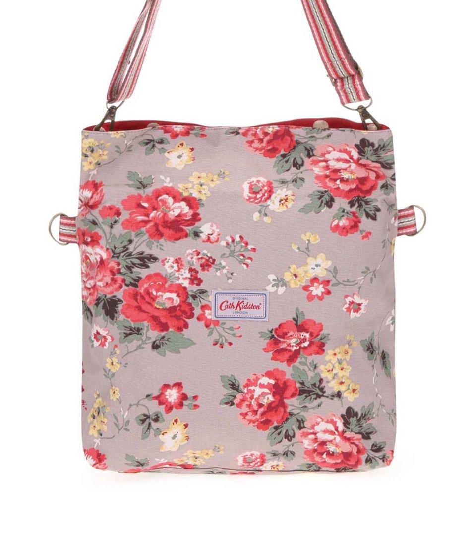 Světle hnědá oboustranná kabelka s květinami Cath Kidston
