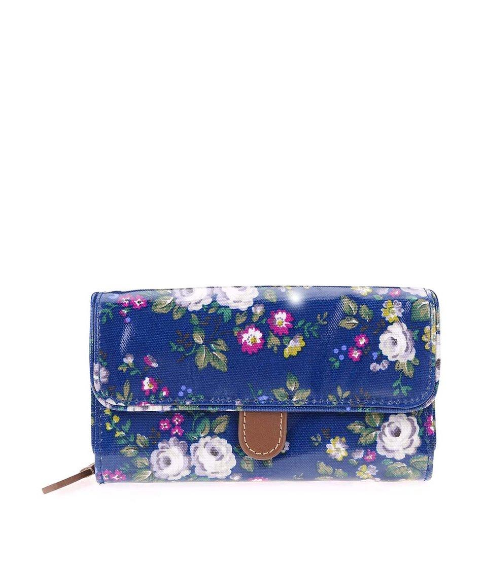 Tmavě modrá květovaná peněženka Cath Kidston