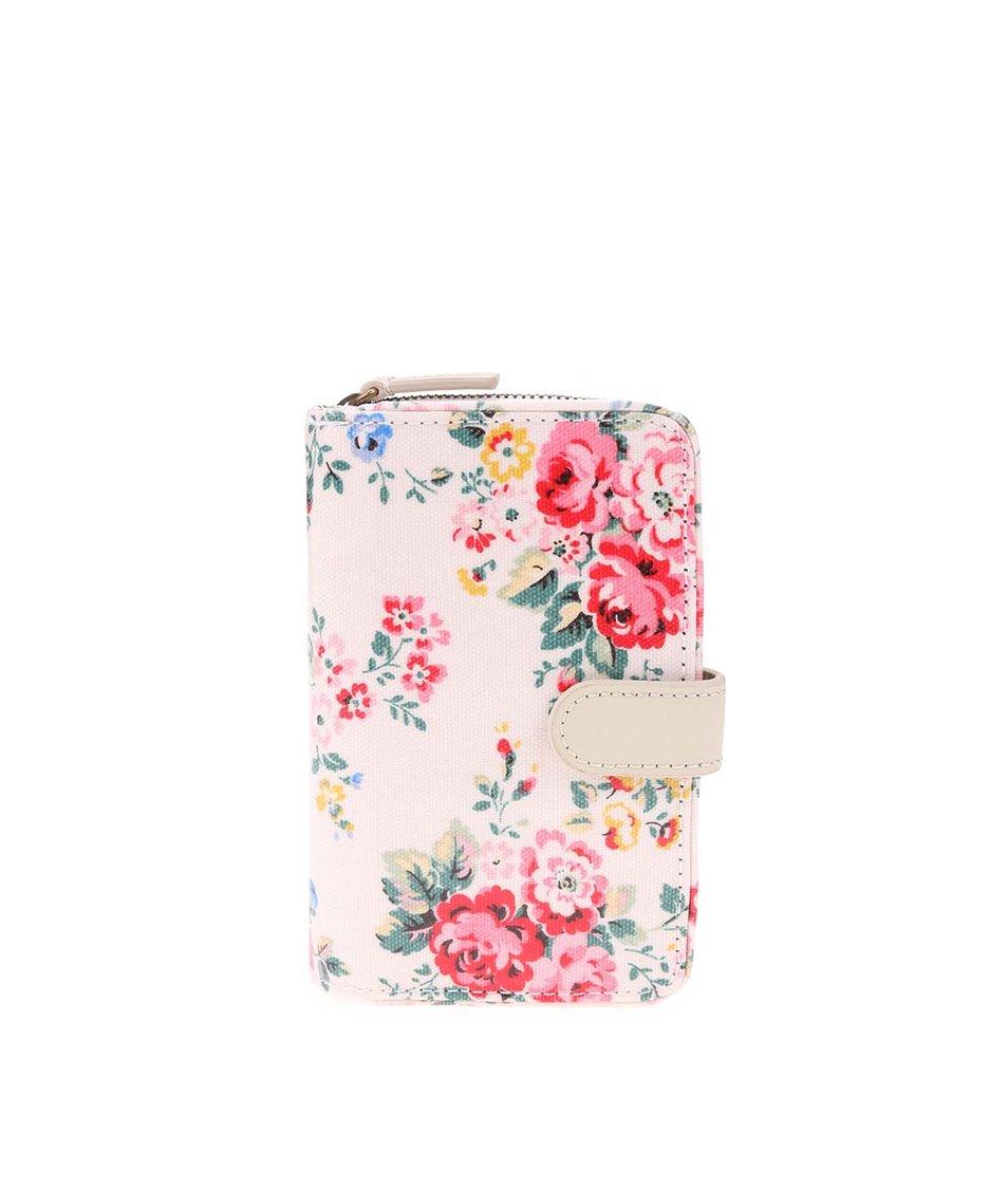 Krémová květovaná peněženka Cath Kidston