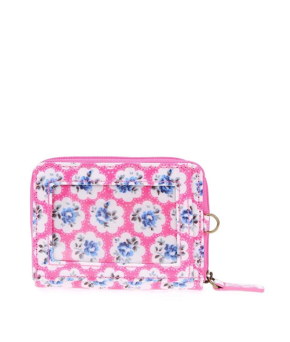 Růžová malá květovaná peněženka Cath Kidston