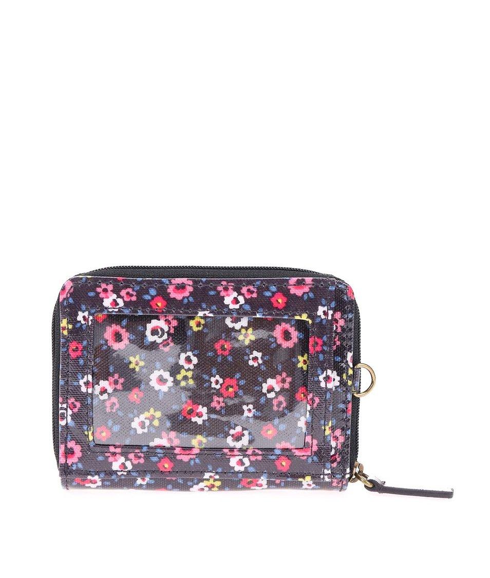 Černá malá květovaná peněženka Cath Kidston