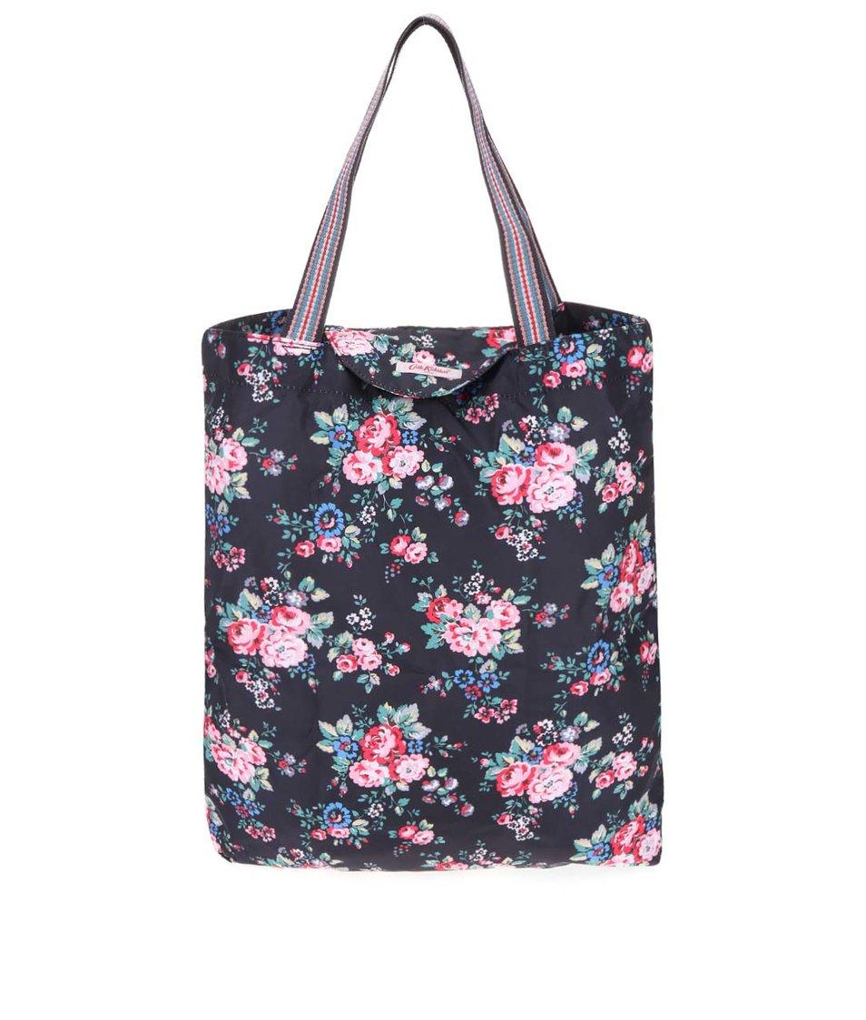 Černá skládací taška s květinami Cath Kidston