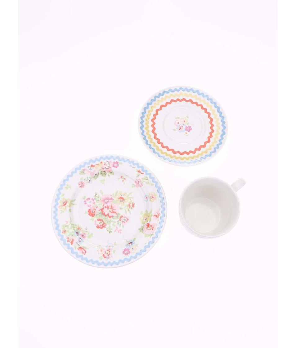 Čajový květovaný set s šálkem a dvěma podšálky Cath Kidston