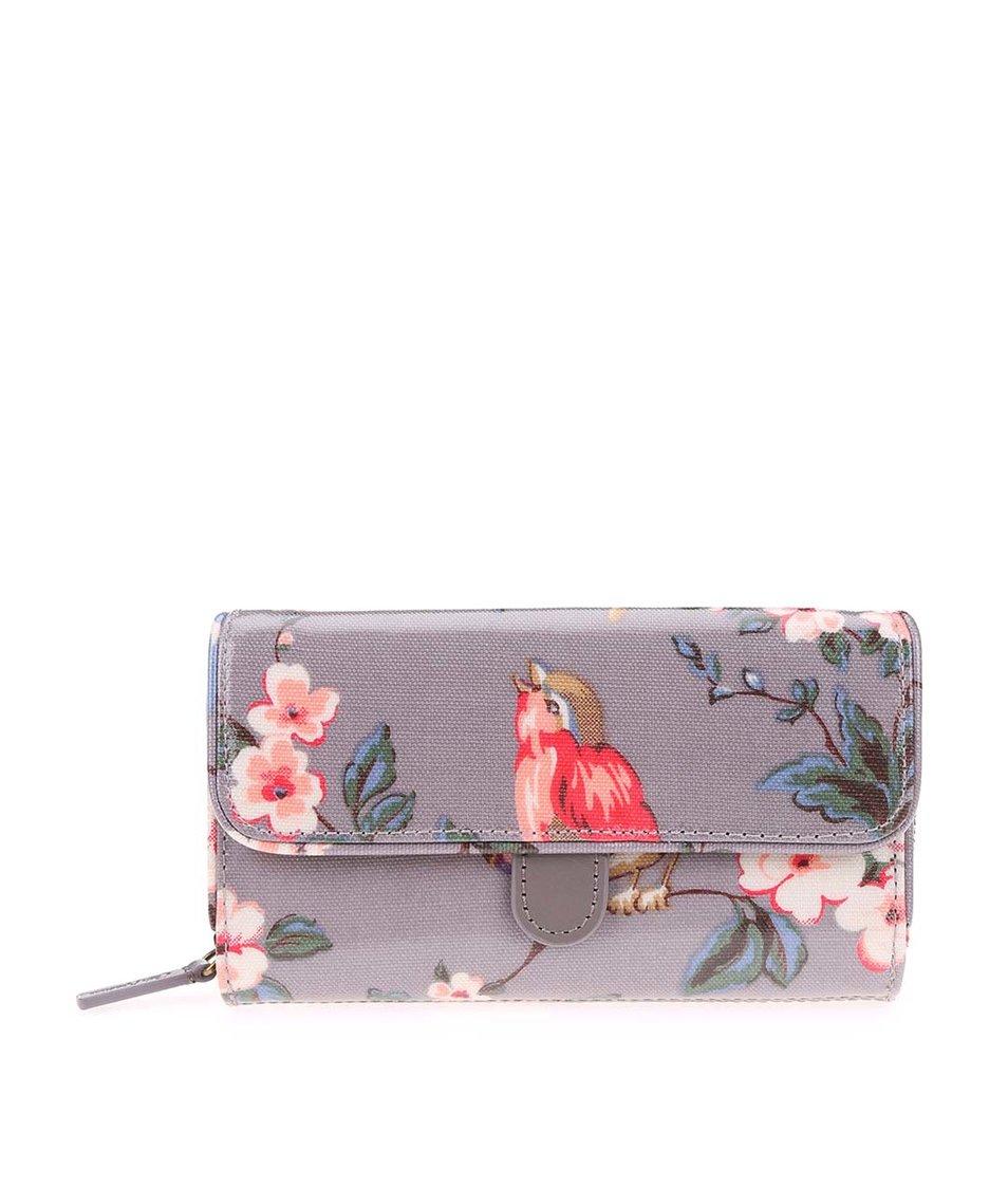 Šedá peněženka s ptáčky Cath Kidston