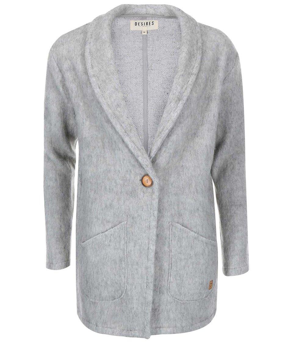 Světle šedý žíhaný kabát Desires Reese
