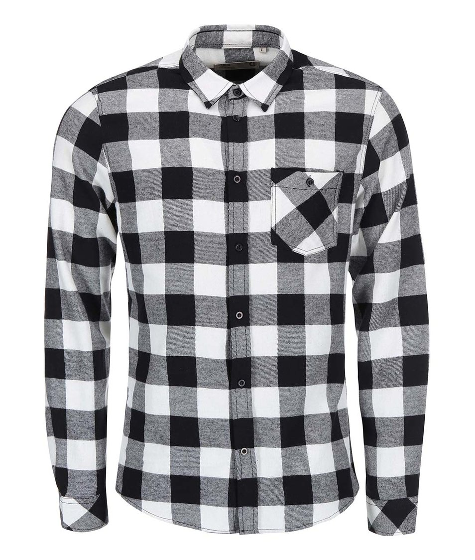 Bílo-černá kostkovaná košile !Solid Ryton