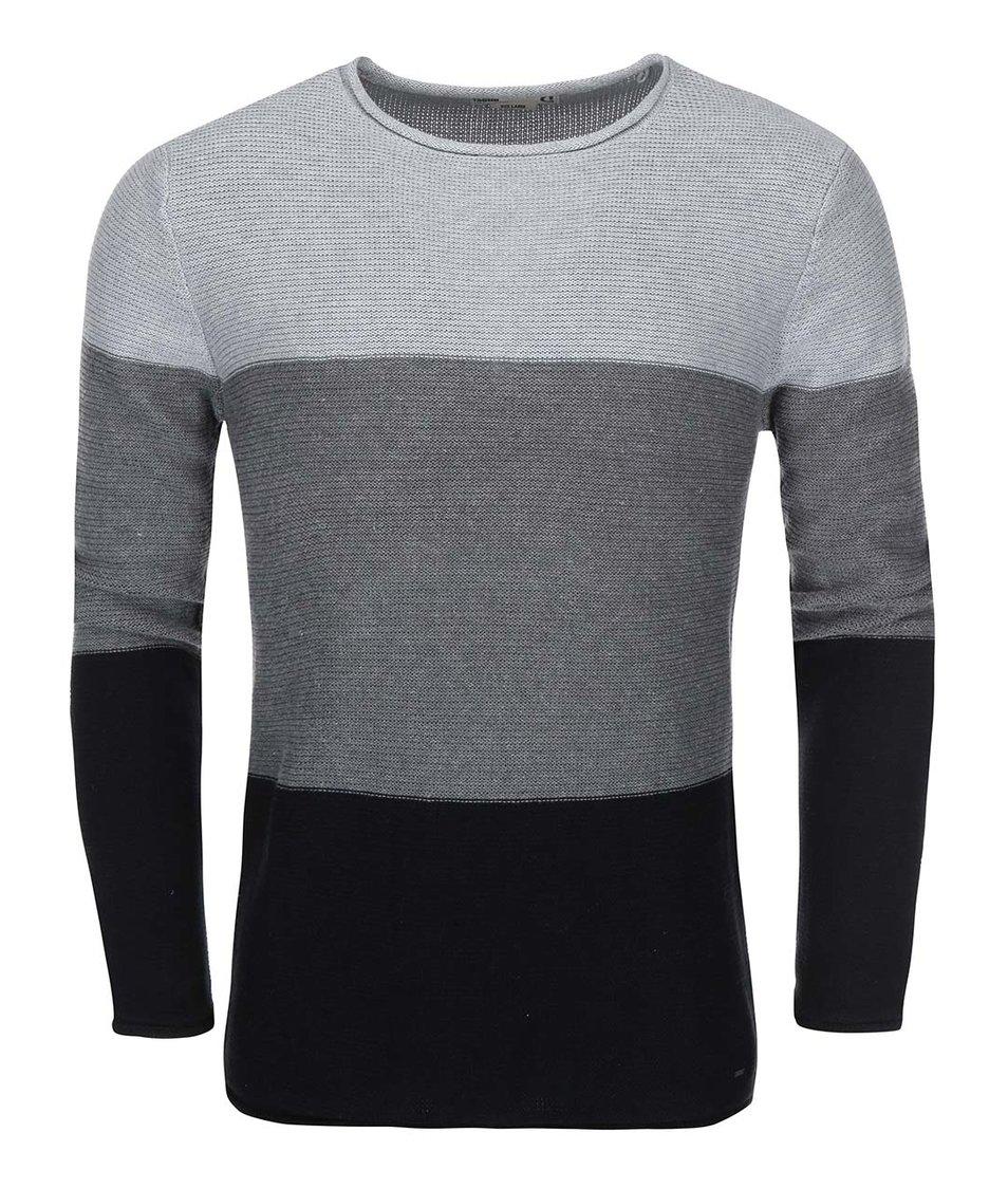 Černo-šedý pruhovaný svetr !Solid Jarah Stripe
