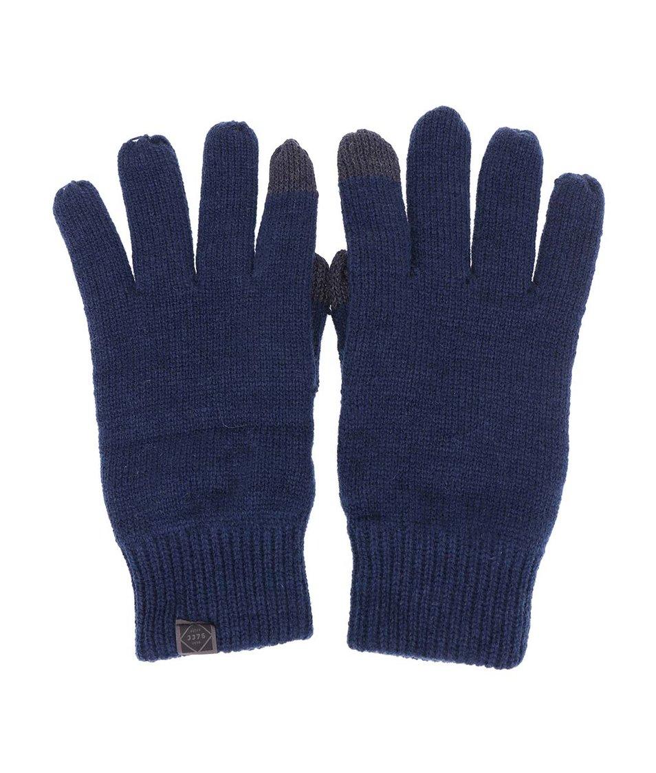 Tmavě modré rukavice Jack & Jones Dna