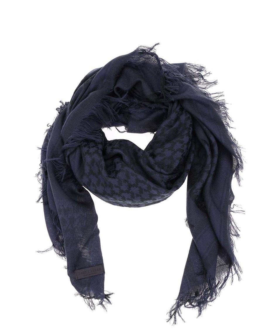 Tmavě modrý vzorovaný šátek Jack & Jones Ethnic