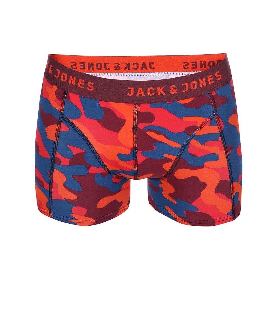 Červené maskáčové boxerky Jack & Jones Colour Camo