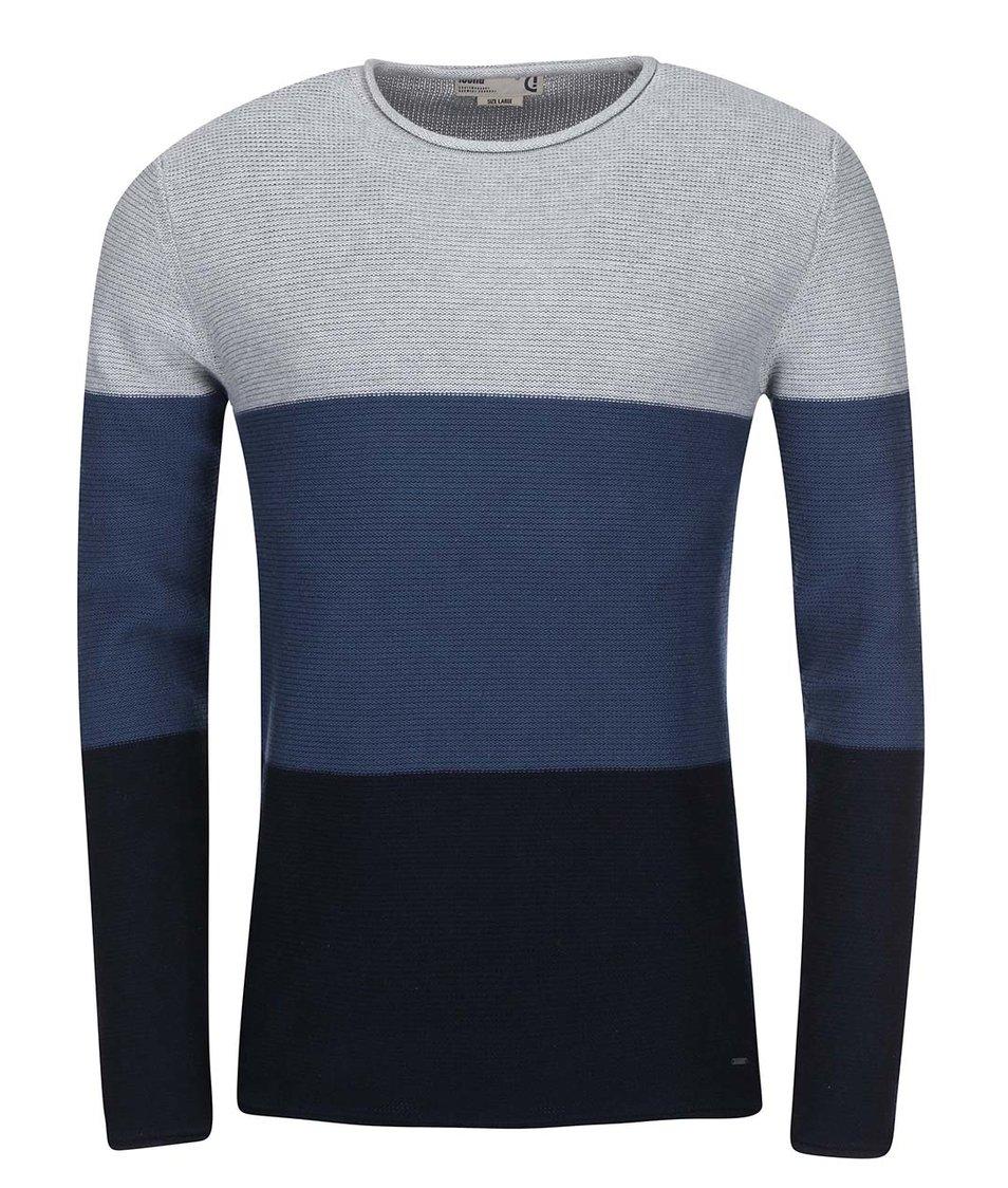 Černo-modrý pruhovaný svetr !Solid Jarah Stripe