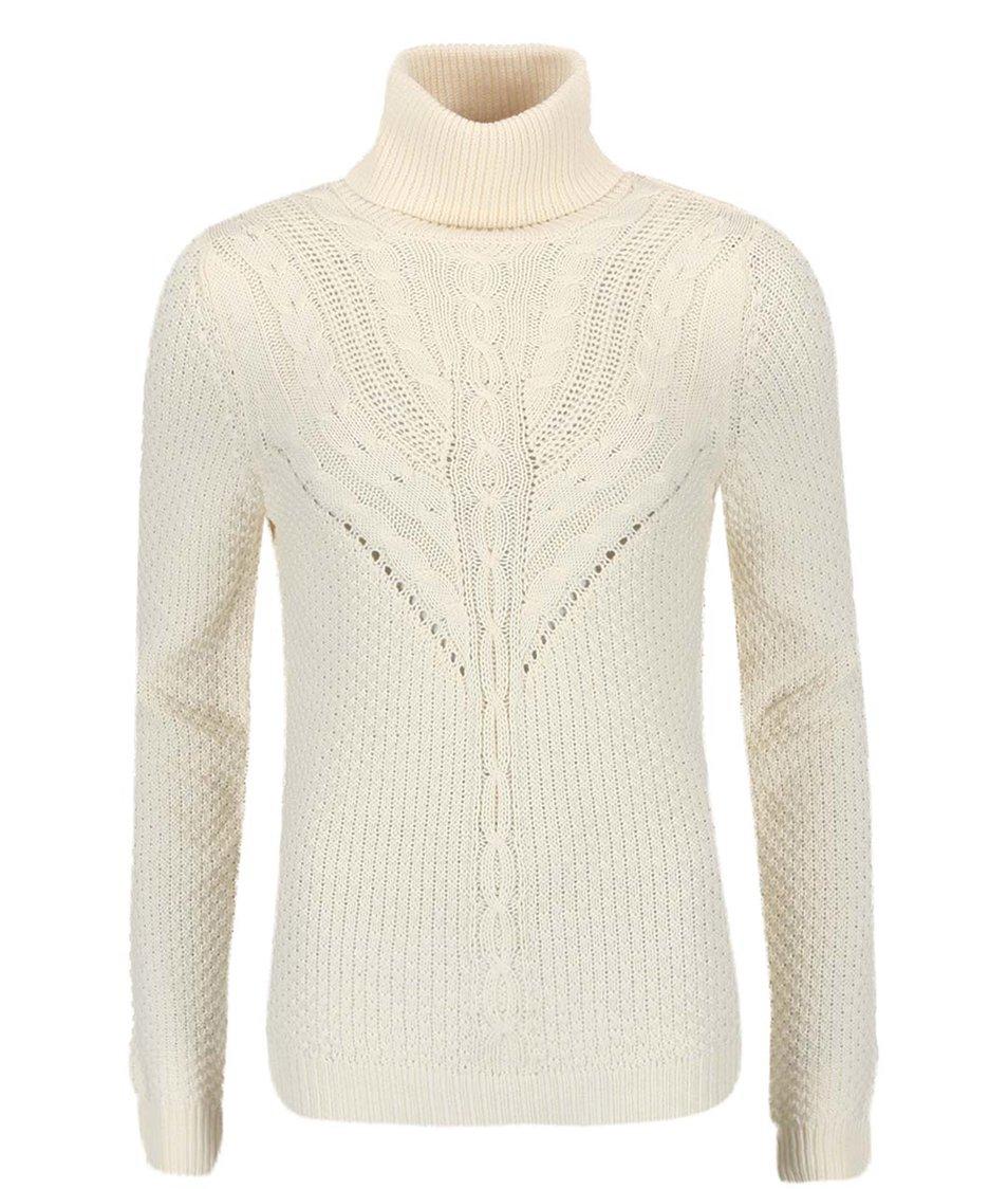 Krémový pletený svetr se vzorem VILA Lilla