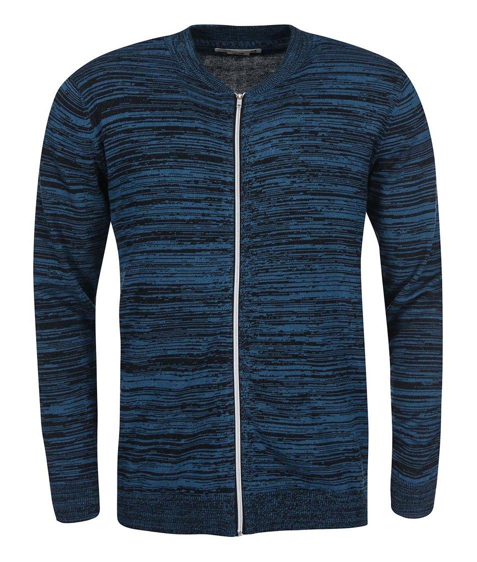 Černo-modrý svetr na zip !Solid Steno