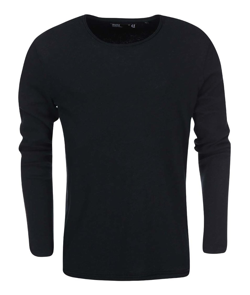 Černé triko s dlouhým rukávem !Solid Romain