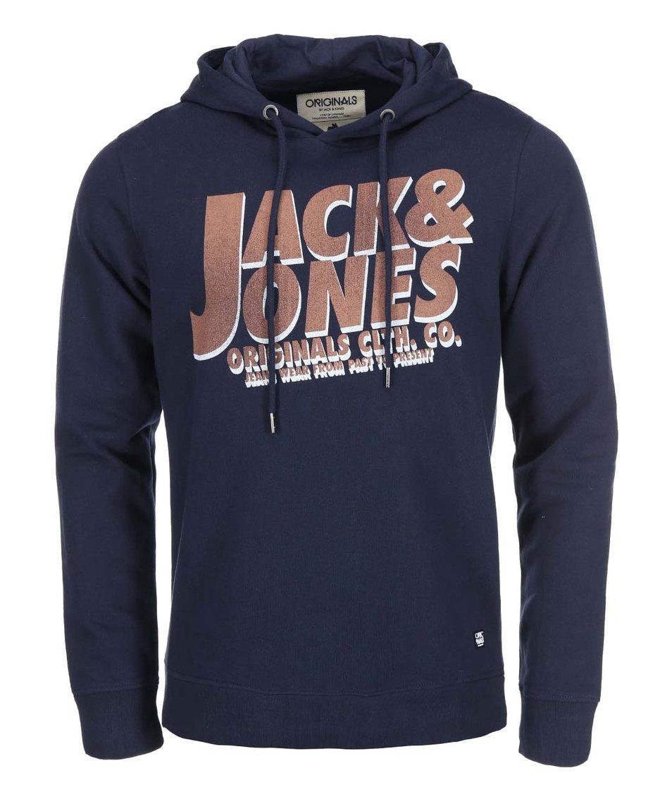 Tmavě modrá mikina s kapucí Jack & Jones Net