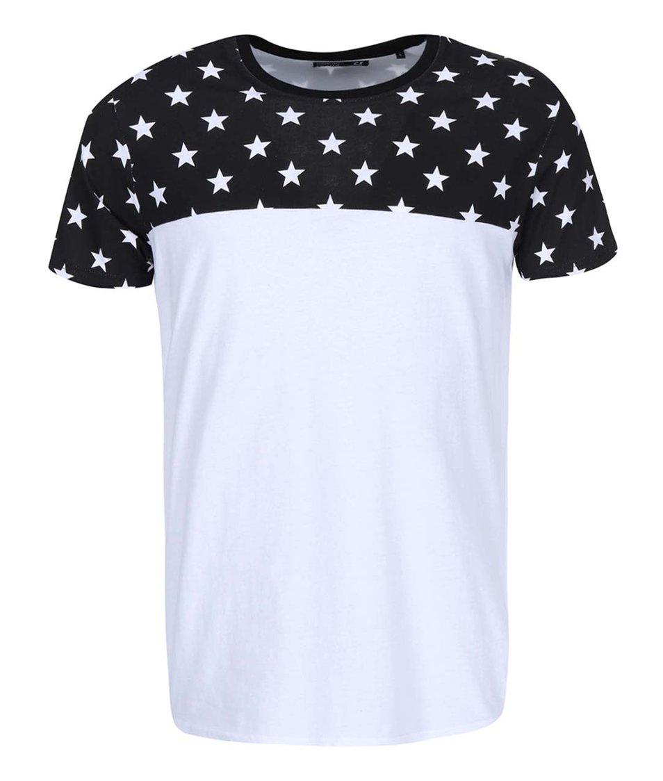Černo-bílé triko s hvězdami !Solid Raffi