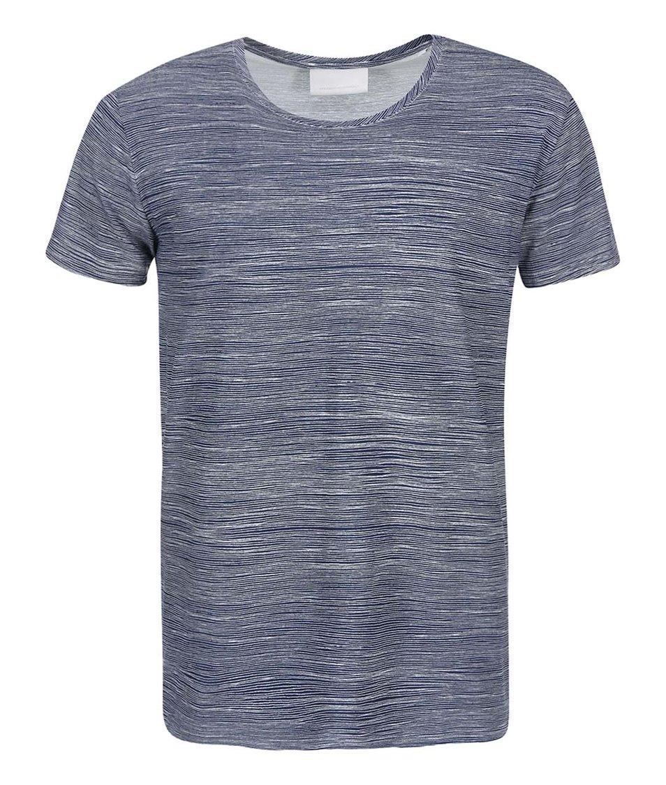 Modré triko s bílými proužky Tailored & Originals Kintbury