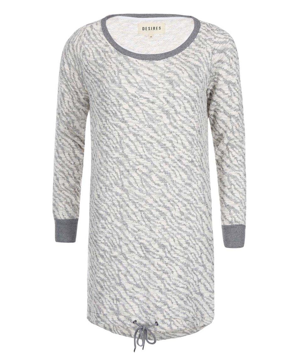 Šedo-krémové šaty Desires Rhett