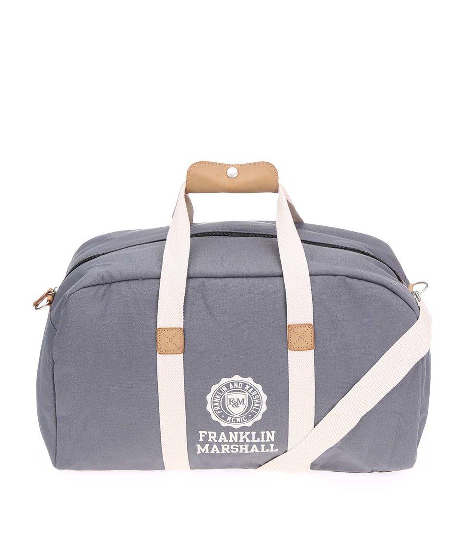 Šedá velká unisex taška Franklin & Marshall