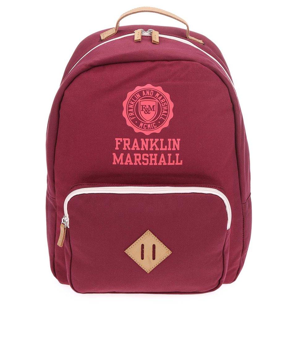 Vínový unisex batoh Franklin & Marshall