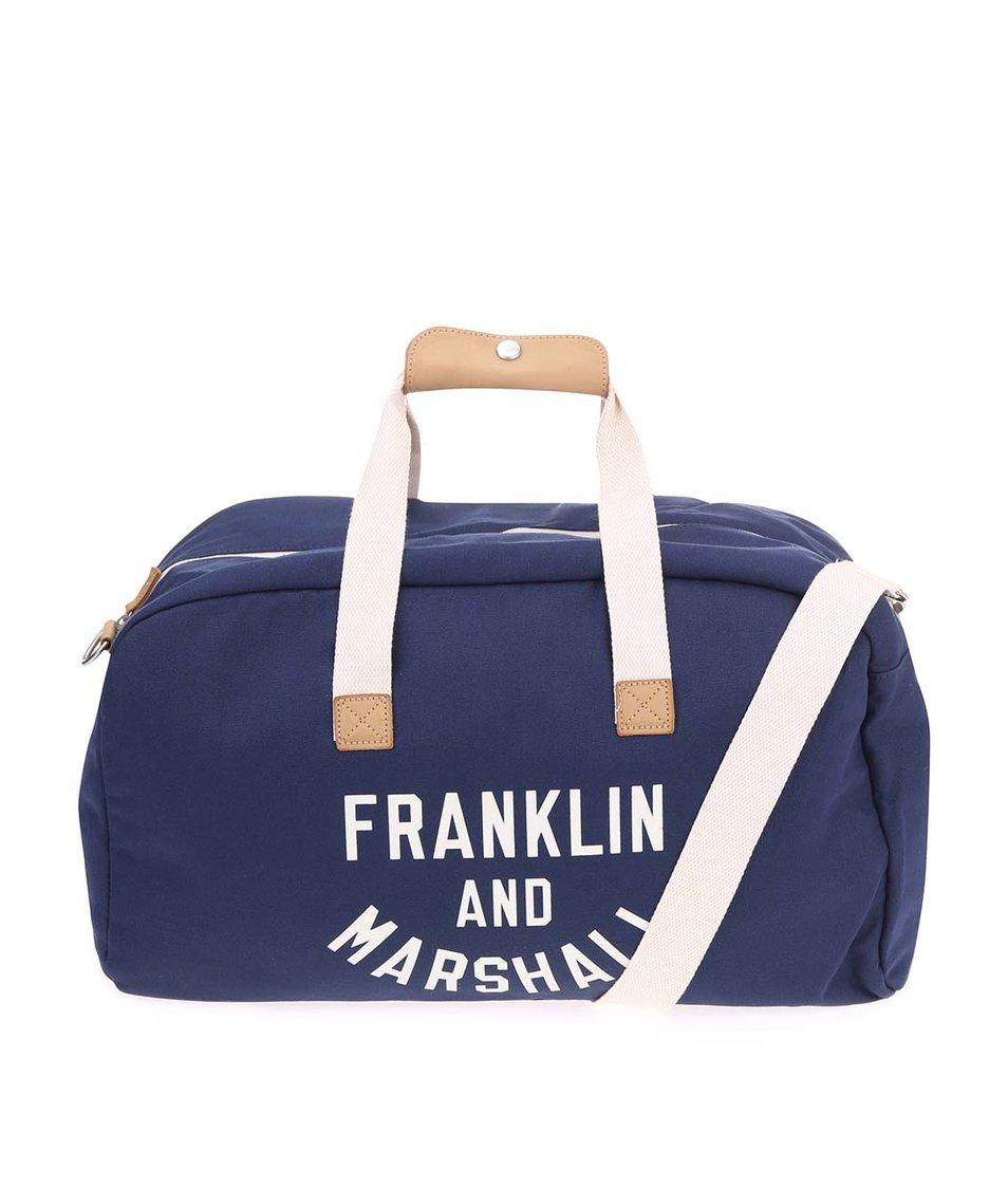 Tmavě modrá velká unisex taška Franklin & Marshall