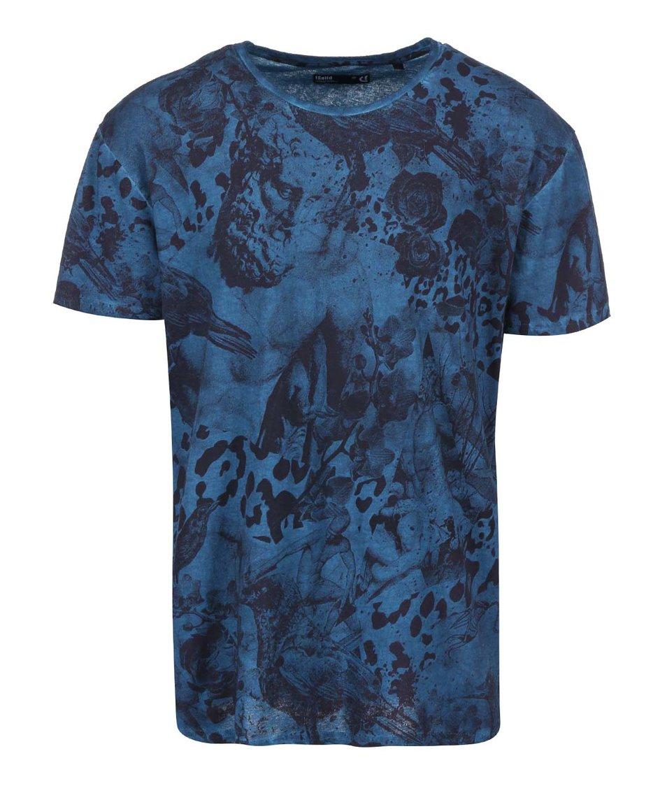 Modré triko s přírodními motivy !Solid Selby