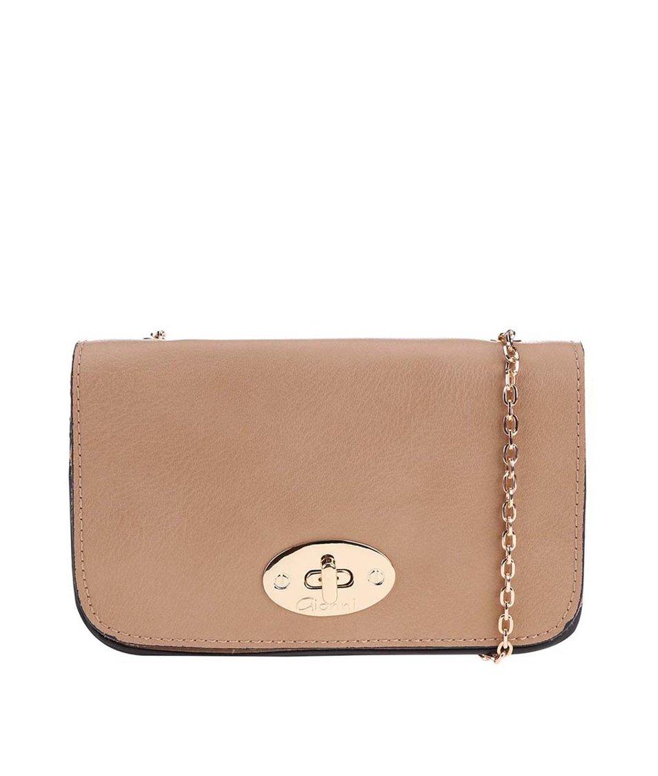 Béžová malá kabelka s řetízkem Gionni Ermine