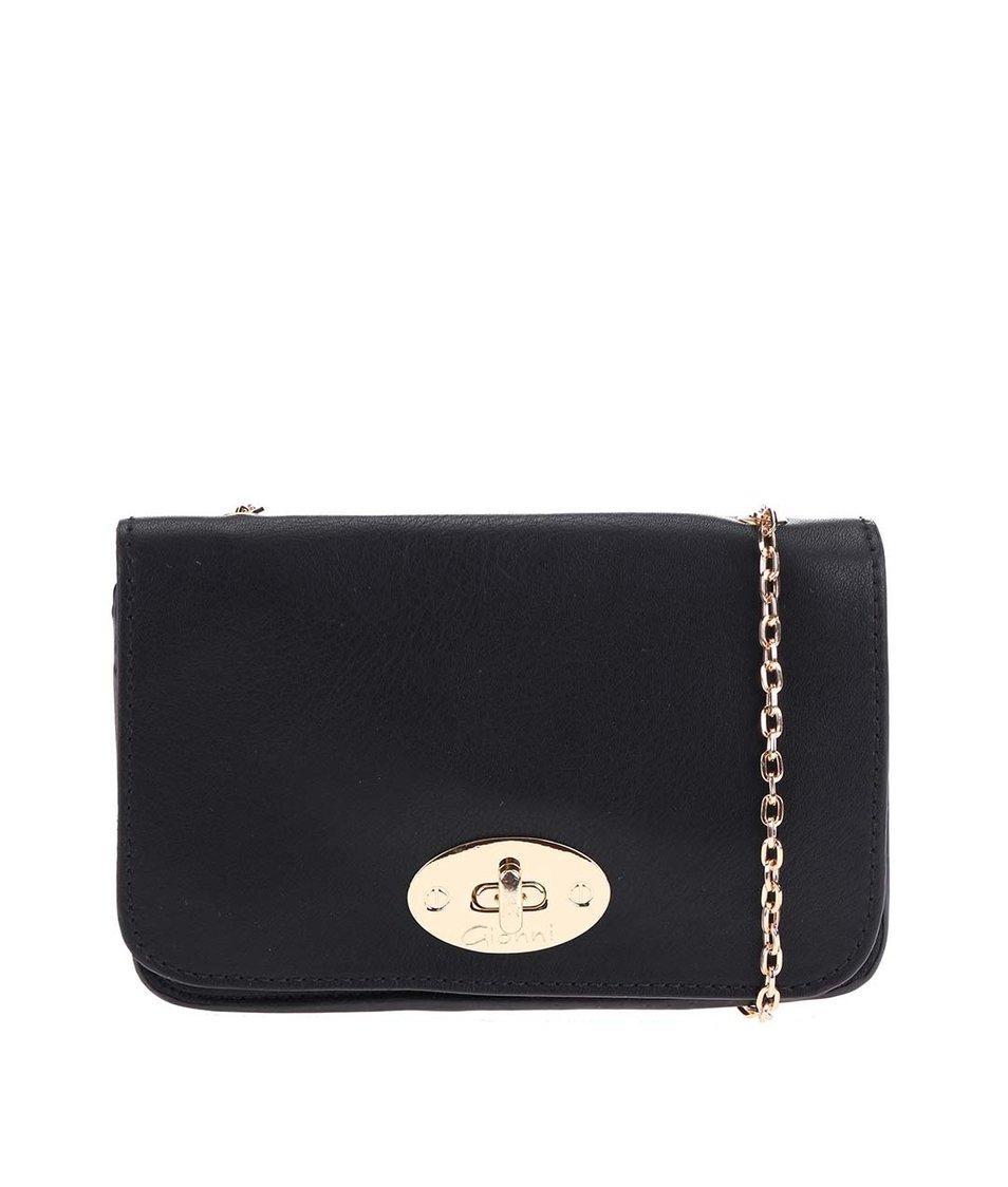 Černá malá kabelka s řetízkem Gionni Ermine