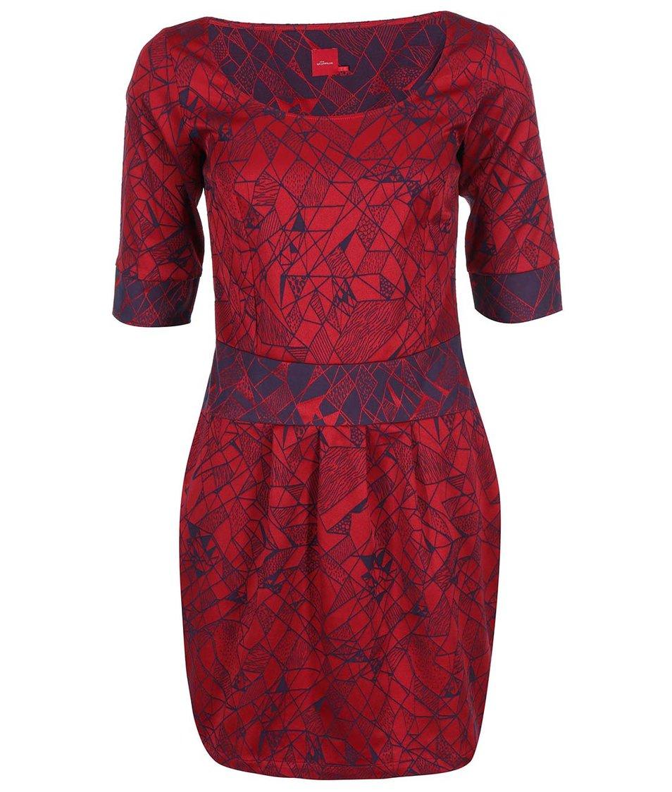 Červené šaty se vzorem Skunkfunk Haritza